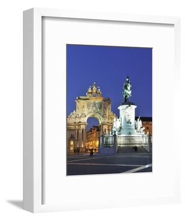 Terreiro Do Paco at Twilight, One of the Centers of the Historical City, Lisbon, Portugal-Mauricio Abreu-Framed Photographic Print