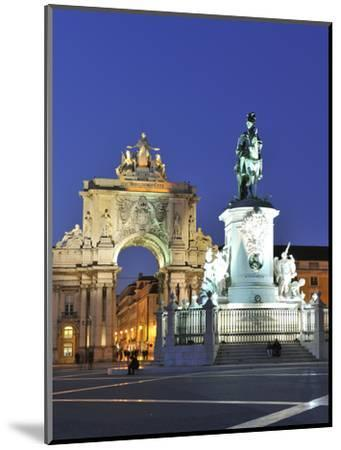 Terreiro Do Paco at Twilight, One of the Centers of the Historical City, Lisbon, Portugal-Mauricio Abreu-Mounted Photographic Print