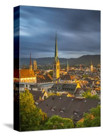 City Skyline, Zurich, Switzerland-Jon Arnold-Stretched Canvas Print