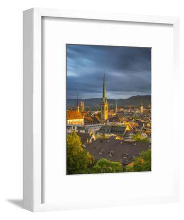 City Skyline, Zurich, Switzerland-Jon Arnold-Framed Photographic Print