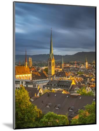 City Skyline, Zurich, Switzerland-Jon Arnold-Mounted Photographic Print