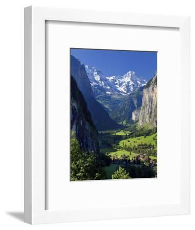 Switzerland, Bernese Oberland, Lauterbrunnen Town and Valley-Michele Falzone-Framed Photographic Print