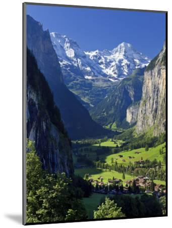 Switzerland, Bernese Oberland, Lauterbrunnen Town and Valley-Michele Falzone-Mounted Photographic Print