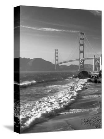 California, San Francisco, Golden Gate Bridge from Marshall Beach, USA-Alan Copson-Stretched Canvas Print
