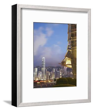 View of Hong Kong Island Skyline from Icc, Hong Kong, China-Ian Trower-Framed Photographic Print
