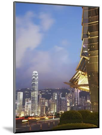 View of Hong Kong Island Skyline from Icc, Hong Kong, China-Ian Trower-Mounted Photographic Print