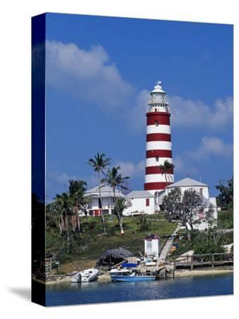 Lighthouse at Hope Town on the Island of Abaco, the Bahamas-William Gray-Stretched Canvas Print