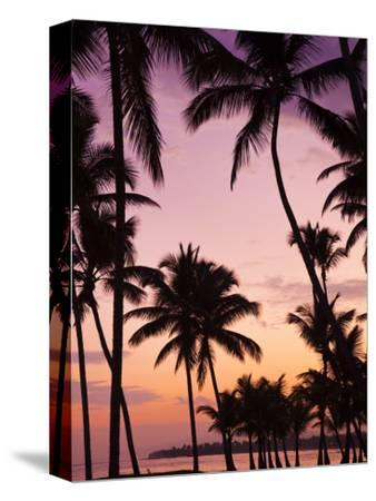 Dominican Republic, Samana Peninsula, Las Terrenas, Playa Las Terrenas Beach-Walter Bibikow-Stretched Canvas Print
