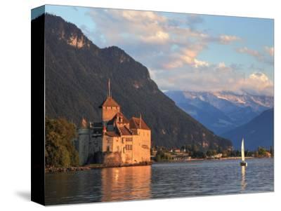 Switzerland, Vaud, Montreaux, Chateau De Chillon and Lake Geneva (Lac Leman)-Michele Falzone-Stretched Canvas Print