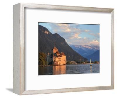 Switzerland, Vaud, Montreaux, Chateau De Chillon and Lake Geneva (Lac Leman)-Michele Falzone-Framed Photographic Print