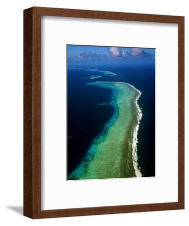 Aerial of Barrier Atoll, Micronesia-John Elk III-Framed Photographic Print