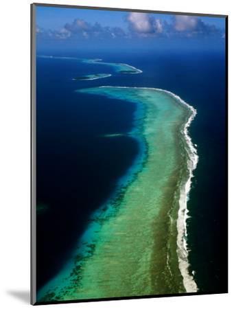 Aerial of Barrier Atoll, Micronesia-John Elk III-Mounted Photographic Print