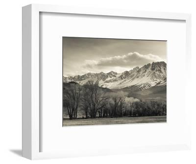 USA, California, Eastern Sierra Nevada Area, Bishop, Landscape of the Pleasant Valey-Walter Bibikow-Framed Photographic Print