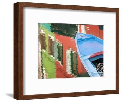 Reflections in Burano, Veneto Region, Italy-Nadia Isakova-Framed Photographic Print