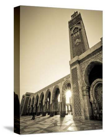 Morocco, Casablanca, Mosque of Hassan II-Michele Falzone-Stretched Canvas Print