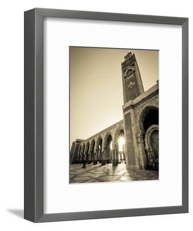 Morocco, Casablanca, Mosque of Hassan II-Michele Falzone-Framed Photographic Print