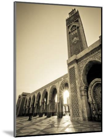 Morocco, Casablanca, Mosque of Hassan II-Michele Falzone-Mounted Photographic Print