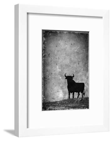 Spain, Andalucia, Jerez De la Frontera, El Cuadrejon, An Osborne Bull or Toro De Osborne-Alan Copson-Framed Photographic Print