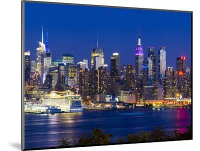 USA, New York, Manhattan, Midtown Skyline with the Empitre State Building across the Hudson River-Alan Copson-Mounted Photographic Print