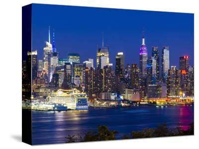 USA, New York, Manhattan, Midtown Skyline with the Empitre State Building across the Hudson River-Alan Copson-Stretched Canvas Print