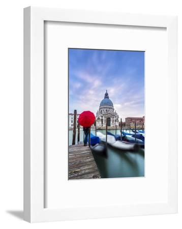 Italy, Veneto, Venice. Santa Maria Della Salute Church on the Grand Canal, at Sunset-Matteo Colombo-Framed Photographic Print