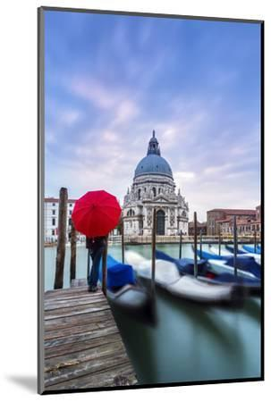 Italy, Veneto, Venice. Santa Maria Della Salute Church on the Grand Canal, at Sunset-Matteo Colombo-Mounted Photographic Print