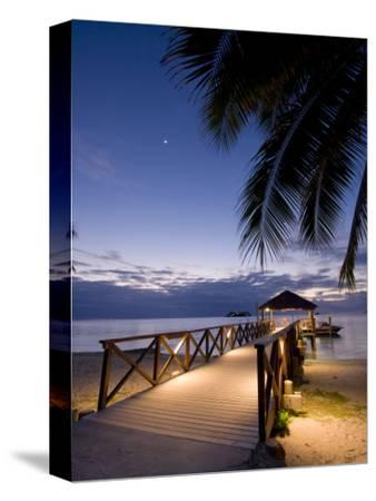Luxury Resort, Malolo Island, Mamanuca Group, Fiji-Michele Falzone-Stretched Canvas Print