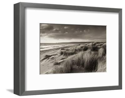 Windswept Sand Dunes on the Beach at Studland Bay, with Views Towards Old Harry Rocks, Dorset-Adam Burton-Framed Photographic Print