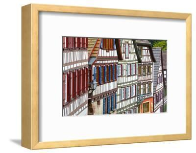 Traditional Half Timbered Buildings in Schiltach's Picturesque Medieval Altstad, Baden-Wurttemberg-Doug Pearson-Framed Photographic Print