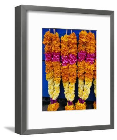 Floral Garland, Tamil Nadu, India-Greg Elms-Framed Photographic Print