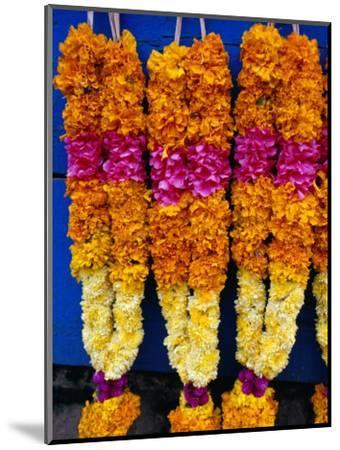Floral Garland, Tamil Nadu, India-Greg Elms-Mounted Photographic Print
