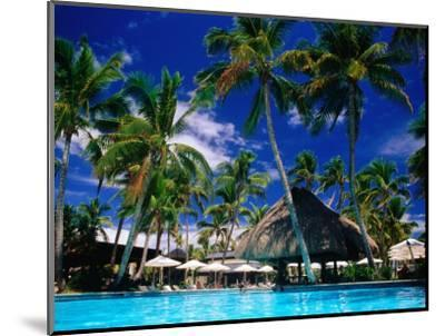 Hotel Pool and Palm Trees, Fiji-Peter Hendrie-Mounted Premium Photographic Print