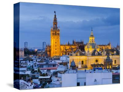 Spain, Andalucia, Seville Province, Seville,  Cathedral of Seville, the Giralda Tower-Alan Copson-Stretched Canvas Print