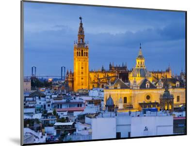 Spain, Andalucia, Seville Province, Seville,  Cathedral of Seville, the Giralda Tower-Alan Copson-Mounted Photographic Print
