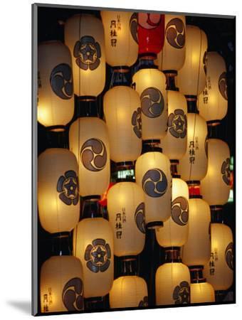 Festival Lanterns for Gion Matsuri, Kyoto, Kinki, Japan,-Frank Carter-Mounted Photographic Print