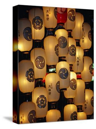 Festival Lanterns for Gion Matsuri, Kyoto, Kinki, Japan,-Frank Carter-Stretched Canvas Print