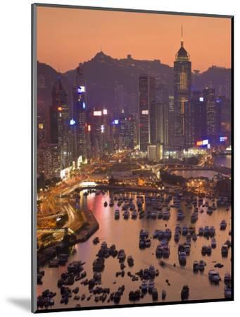 Hong Kong, Hong Kong Island, Causeway Bay View across Harbour to Victoria Peak, China-Peter Adams-Mounted Photographic Print