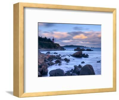Maine, Lubec, West Quoddy Lighthouse, USA-Alan Copson-Framed Photographic Print