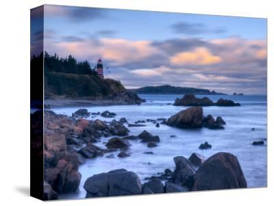 Maine, Lubec, West Quoddy Lighthouse, USA-Alan Copson-Stretched Canvas Print