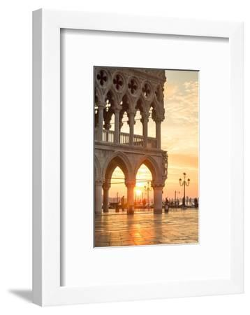 Italy, Veneto, Venice. Sunrise over Piazzetta San Marco and Doges Palace-Matteo Colombo-Framed Photographic Print