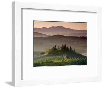 Farmhouse, Val D' Orcia, Tuscany, Italy-Doug Pearson-Framed Photographic Print