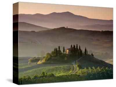 Farmhouse, Val D' Orcia, Tuscany, Italy-Doug Pearson-Stretched Canvas Print