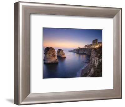 Lebanon, Beirut, the Corniche, Pigeon Rocks-Michele Falzone-Framed Photographic Print