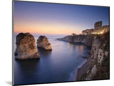 Lebanon, Beirut, the Corniche, Pigeon Rocks-Michele Falzone-Mounted Photographic Print