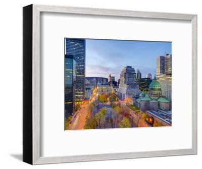 Canada, Quebec, Montreal, Place Du Canada and Dorchester Square, Cathedral-Basilica of Mary,-Alan Copson-Framed Photographic Print