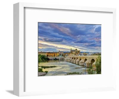 Roman Bridge Over Guadalquivir River and Mezquita, Cordoba, Cordoba Province, Andalucia, Spain-Alan Copson-Framed Photographic Print