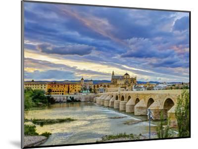 Roman Bridge Over Guadalquivir River and Mezquita, Cordoba, Cordoba Province, Andalucia, Spain-Alan Copson-Mounted Photographic Print