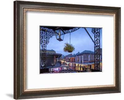 Louisiana, New Orleans, French Quarter, Bourbon Street-John Coletti-Framed Photographic Print