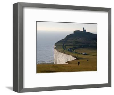East Sussex, Beachy Head Is a Chalk Headland on South Coast of England, England-David Bank-Framed Photographic Print