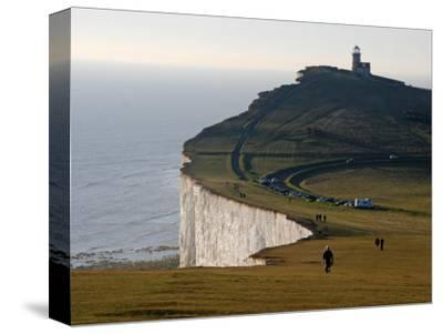East Sussex, Beachy Head Is a Chalk Headland on South Coast of England, England-David Bank-Stretched Canvas Print
